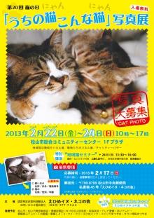 2013年2月22日 猫の日イベント 第20回 うちの猫こんな猫写真展